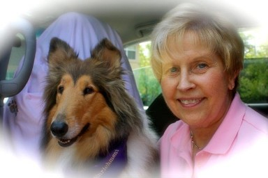 Sherry Dodson, Certified Professional Dog Trainer with Collie, Pittsboro, NC
